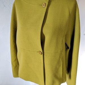 Worth Jackets & Coats - WORTH Women's Medium Chartreuse Wool Blend Jacket